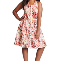 MYNT 1792 Scuba Fit and Flare Dress