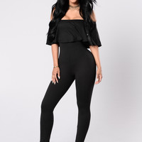Doll Parts Jumpsuit - Black