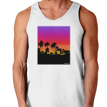 Palm Trees and Sunset Design Loose Tank Top  by TooLoud