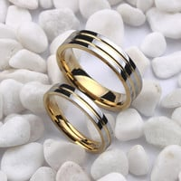 Romantic 4mm Tungsten Wedding Wedding Bands For Lovers