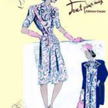 Paisley Dress with Hat, Gloves and Jacket