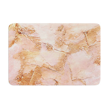 "Rosie Brown ""Bronze It"" Orange Paint Memory Foam Bath Mat"