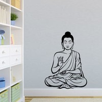 Meditating Buddha Decal Removable Art Wall Sticker