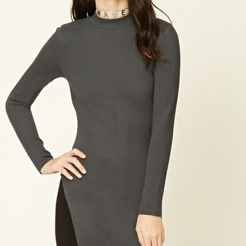 Side-Slit Ribbed Tunic
