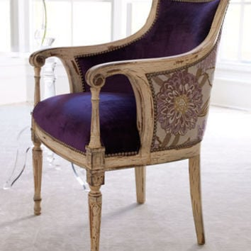 "Old Hickory Tannery ""Dahlia Purple"" Chair - Horchow"