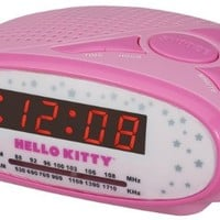 Hello Kitty AM/FM Alarm Clock Radio KT2051B (Pink)