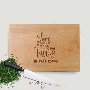 Housewarming Gift - Wood Cutting Board Walnut or Maple - New Home Gift Ideas