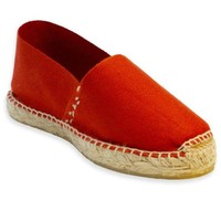 Womens casual shoes - Terracotta flats espadrilles