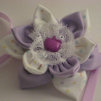 Lavender and Lace Barrette
