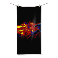 Cartoon Superhero Beach Towel