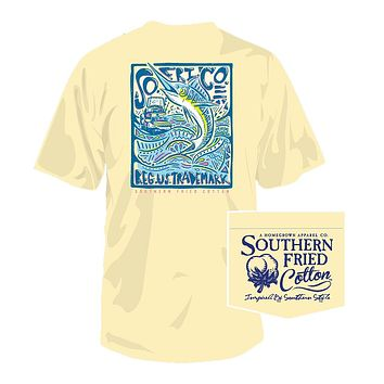Keep It Reel Tee in Banana by Southern Fried Cotton