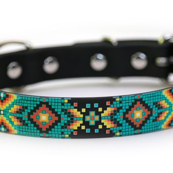 Aztec Waterproof Sport Dog Collar on Black - 1 inch