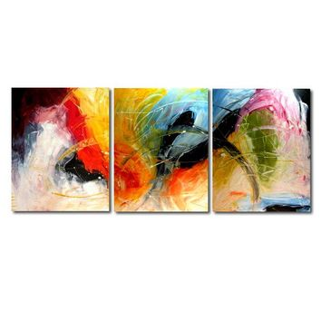 """'The journey'  - 48"""" X 20"""" Original Abstract  Art. Free-shipping within USA & 30 day return Policy."""
