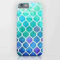 Emerald & Blue Marrakech Meander iPhone & iPod Case by Micklyn