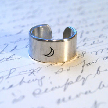 To the Moon Secret Message Ring I willfollow my by BerkeyDesigns