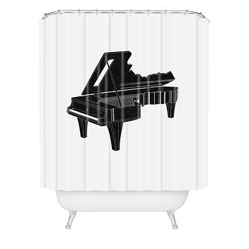 Matt Leyen Music Is The Key 1 Shower Curtain