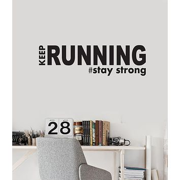 Vinyl Wall Decal Running Quote Words Inspirational Art Sports Runner Run Stickers Mural (ig6060)