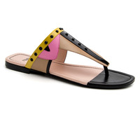 Fendi Black Bugs Thong Sandal