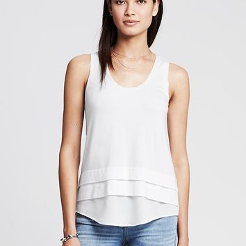 Colorblock Shirttail Tank