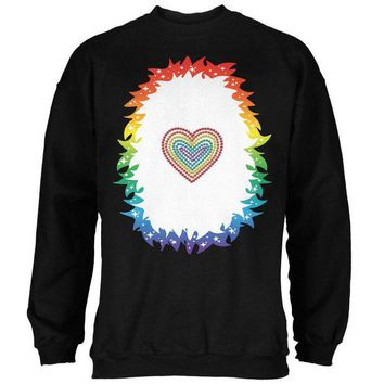 DCCKJY1 Halloween Rainbow Heart Unicorn Costume Pony Mens Sweatshirt