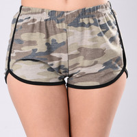 Glad We Found Us Shorts - Camo