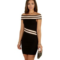 Sale-black Off For The Night Bodycon Dress