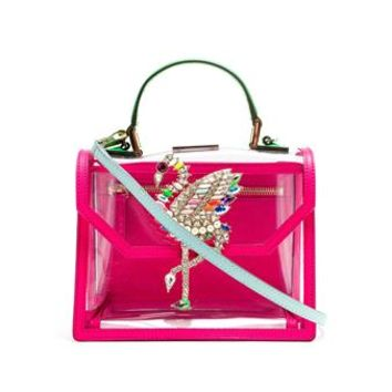 SHOUROUK | PVC Flamingo Acapulco Bag | Browns fashion & designer clothes & clothing