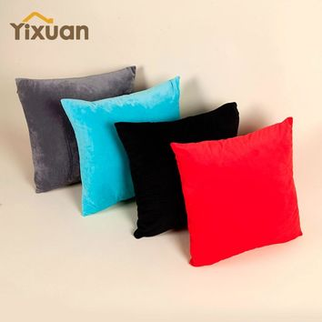 Velour Cushion Cover yixuan Home Decoration Supply 100% Polyester Soft Sofa Car Decorative Throw Pillows Case for Decor