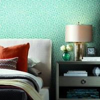 Bijou Wallpaper in Teal from the Breathless Collection by Candice Olso – BURKE DECOR