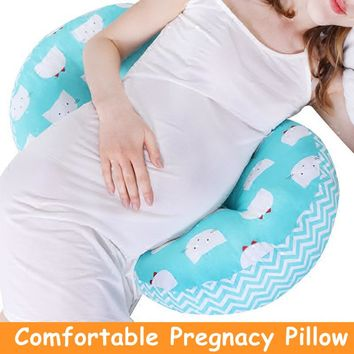 Pregnancy Body Pillow Belly Lumbar Support Cushion for Side Sleepers Pregnant Women Sciatica Back Pain Relief U Shape Pillows