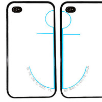 BFF Case / Anchor Quote iPhone 4 Case Best Friends iPhone 5 Case iPhone 4S Case iPhone 5S Case One For Your BFF Set Phone Case Gift Nautical