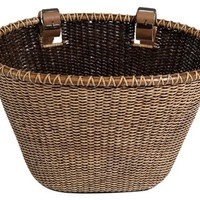 Nantucket Bike Basket CompanyLightship Collection Oval/Dark Stain Bicycle Basket (Brown, 14 X 10 X 8.5)