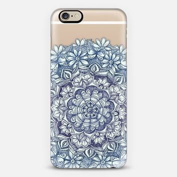 Indigo Medallion with Butterflies & Daisy Chains - transparent iPhone 6 case by Micklyn Le Feuvre | Casetify