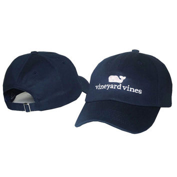 Whale Embroidered Navy Blue Strapback Golf Casquette Southern Tide Fish Dad Baseball Cap Men Summer Hat Baseball Women Dolphin Cap