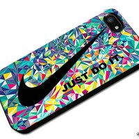 Just Do It Nike Aztec Geometric 05 Custom Case for Iphone 4/4s 5 5c 6 6plus (Iphone 5c black)