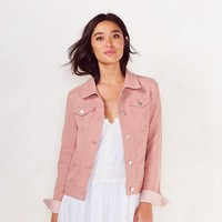 Women's LC Lauren Conrad French Terry Jacket