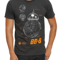 Star Wars: The Force Awakens BB-8 Schematic T-Shirt