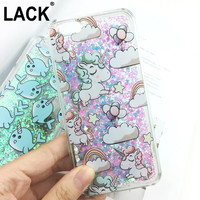 Dynamic Glitter Stars Dynamic Liquid Cartoon Unicorn Cover For iphone 6 Case For iphone 6S 6 Plus Phone Cases Capa Coque Fundas