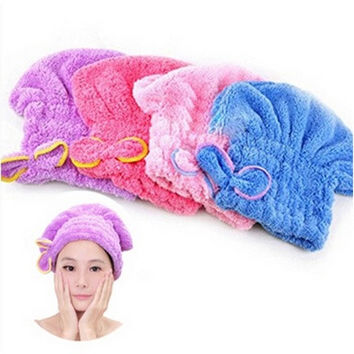 Newly Textile Useful Dry Microfiber Turban Quick Hair Hats Wrapp Towels Bathing  [8045587591]