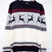 Reindeer Heart Jumper White