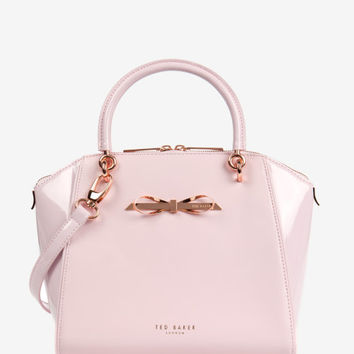Small slim bow tote bag - Baby Pink | Bags | Ted Baker