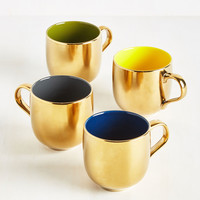 Gold Crush Mug Set | Mod Retro Vintage Kitchen | ModCloth.com