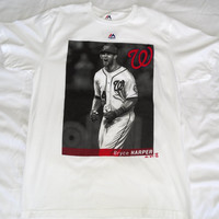 Washington Nationals Majestic Bryce Harper Short Sleeve T Shirt Size L