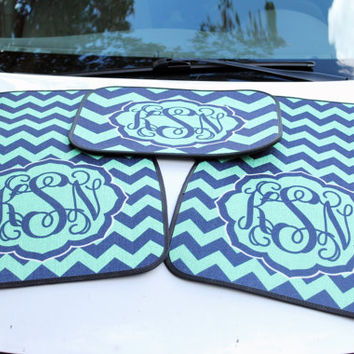 Personalized Car Mats - Monogrammed Car Accessories - Custom Printed Floor Mats - Design Your Own - Made in USA