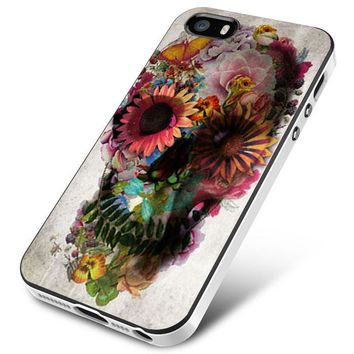 Flower Sugar Skull Pink Day Of The Dead iPhone 5 | 5S | 5SE Case Planetscase.com