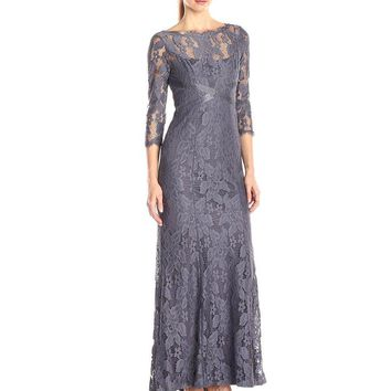 Adrianna Papell - Embellished Lace Illusion Dress 81915120