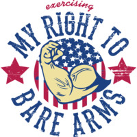 Exercising My Right To Bare Arms Workout Tank - MintyTees.com | Fresh T-Shirt Printing & Graphic Tees – Hoodies – Tanks – T-shirts