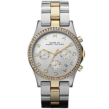 Marc by Marc Jacobs Ladies Henry Two-Tone Watch - Silver/Gold