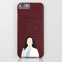 Greys Anatomy: Cristina Yang iPhone & iPod Case by Holly Ent