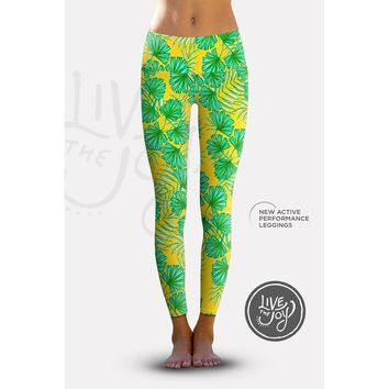 2nd Gen. Island Life, Eco-Friendly Active Performance Leggings